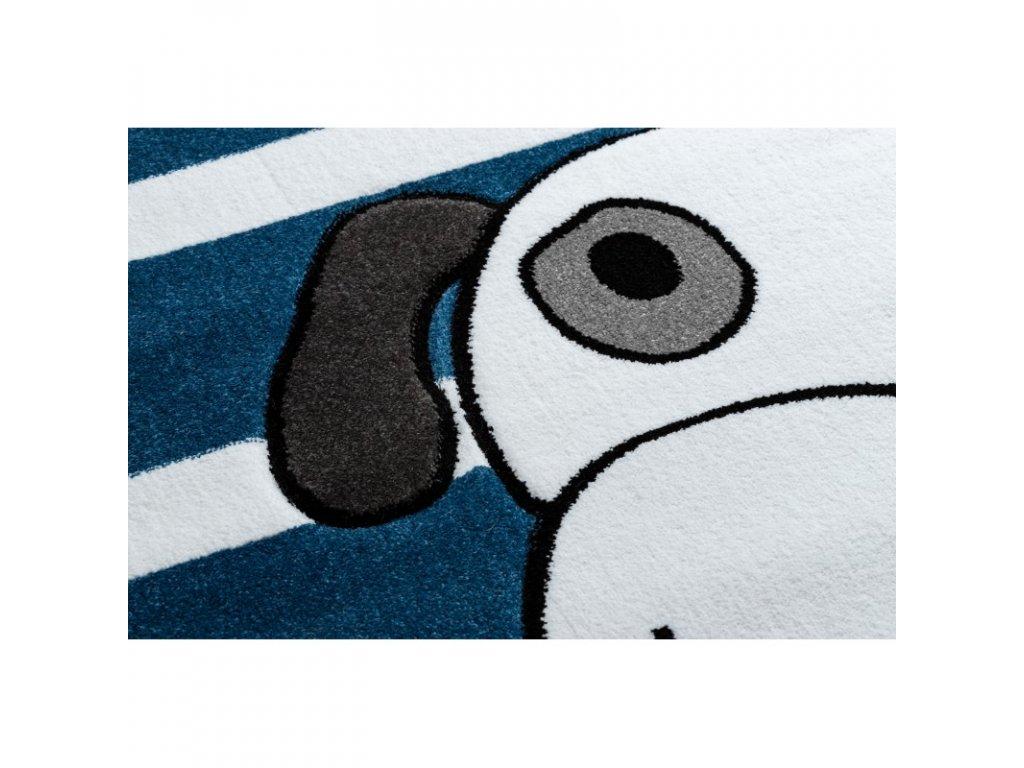 Dětský kusový koberec PETIT Pes modrý