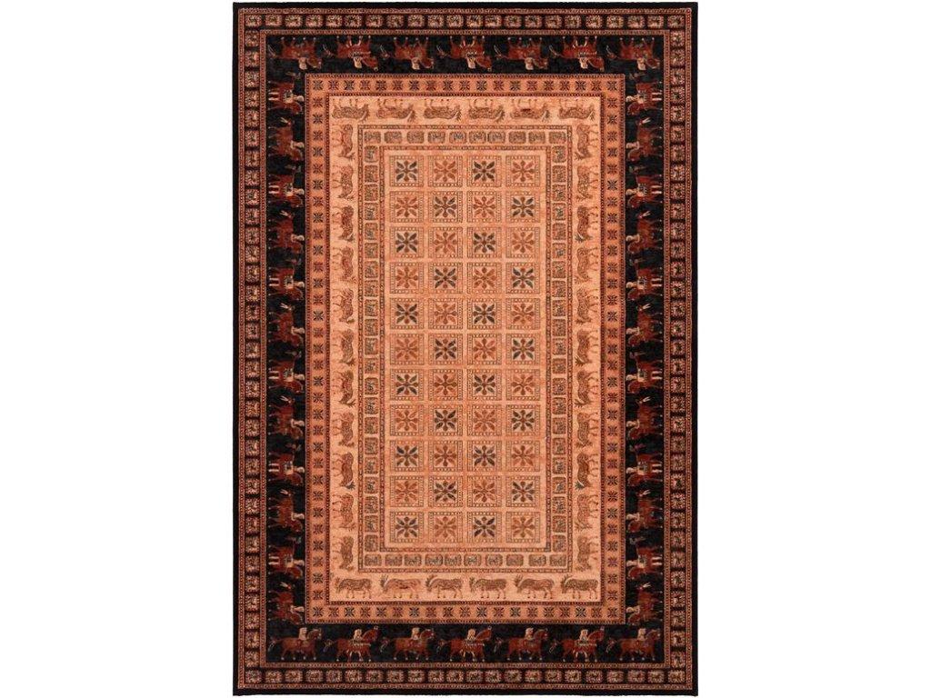Kusový koberec vlněný Osta Kashqai 4301 102 béžový / bordó