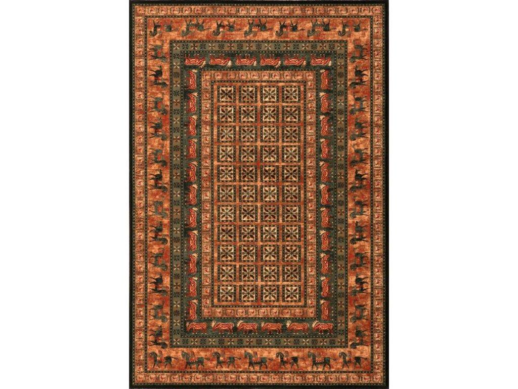 Kusový koberec vlněný Osta Kashqai 4301 500 béžový / zelený