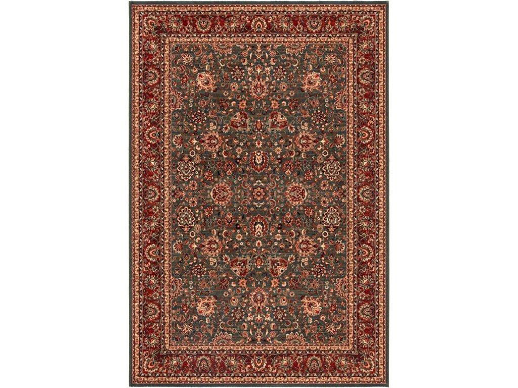 Kusový koberec vlněný Osta Kashqai 4362 400 červený /šedý