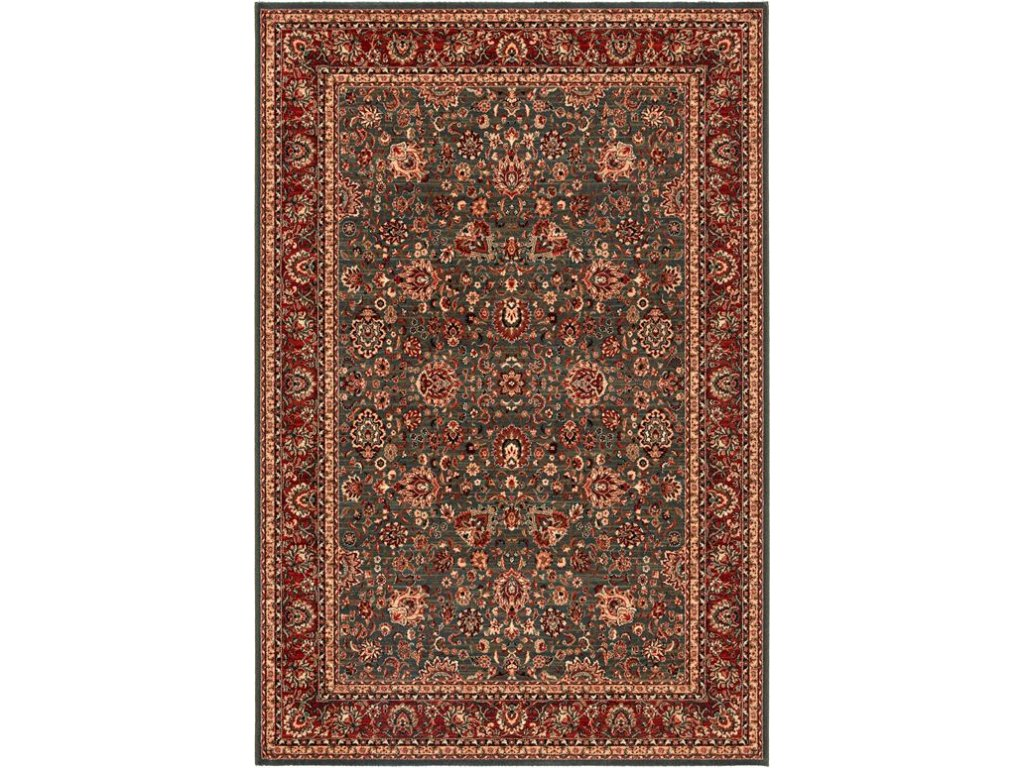 Kusový koberec vlněný Osta Kashqai 4362 400 červený zelený