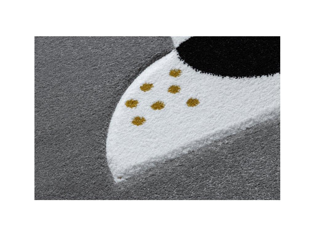 Dětský kusový koberec PETIT Lev šedý