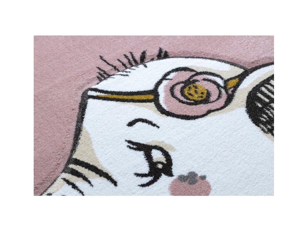 Dětský kusový koberec PETIT Slůně růžový