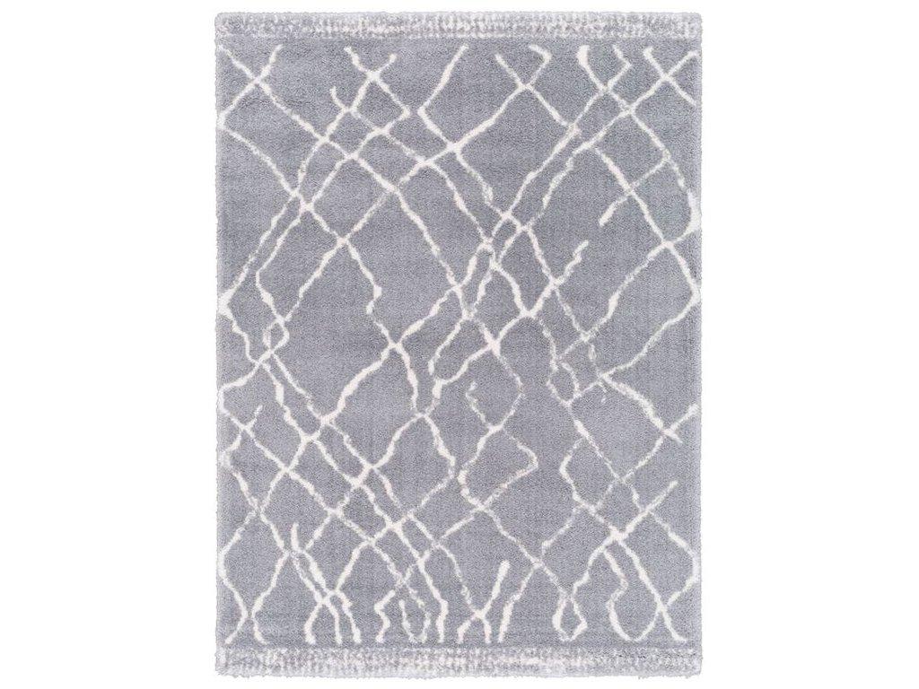 Kusový shaggy koberec Agnella Yoki Miu Light Šedý / světle šedý