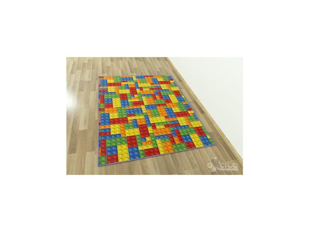 Dětský kusový koberec Kostky Lego-2