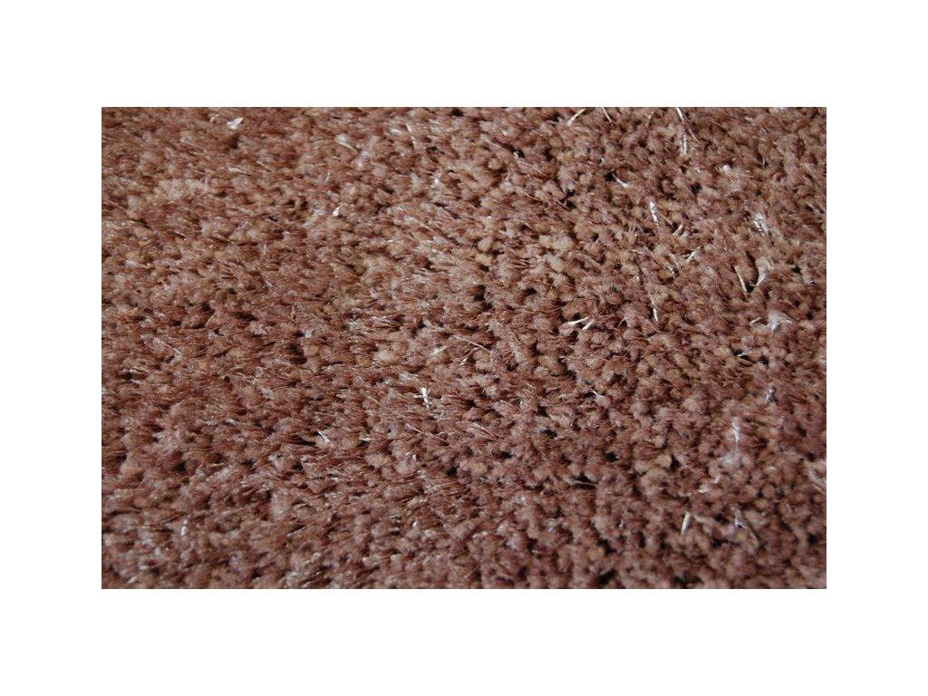 Kusový koberec Shaggy VERONA světle hnědý