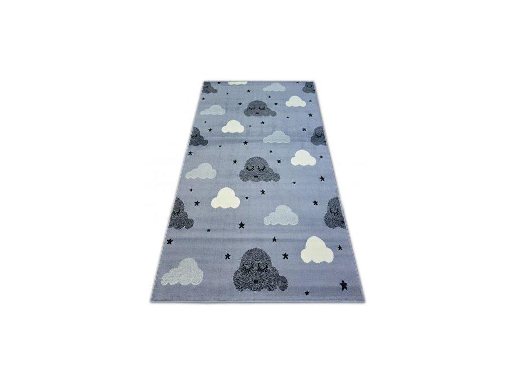 Kusový koberec BCF FLASH EYES 3977 Mráčky šedý