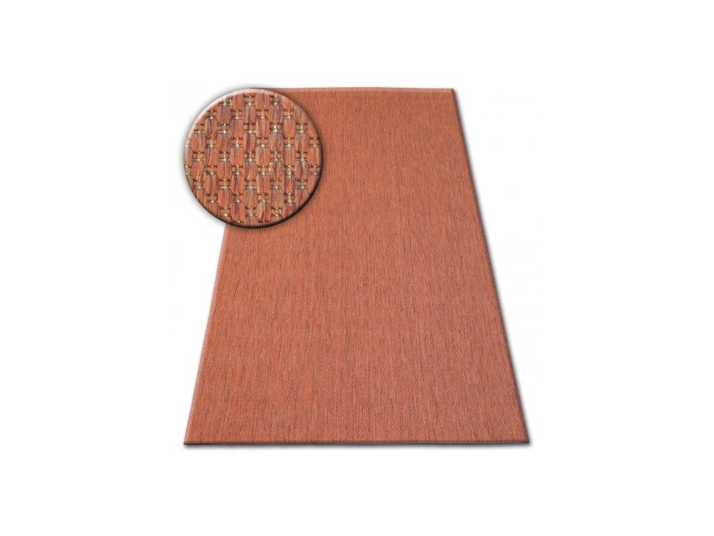 Koberec SISAL FLAT 48663/120 terakota / hnědý