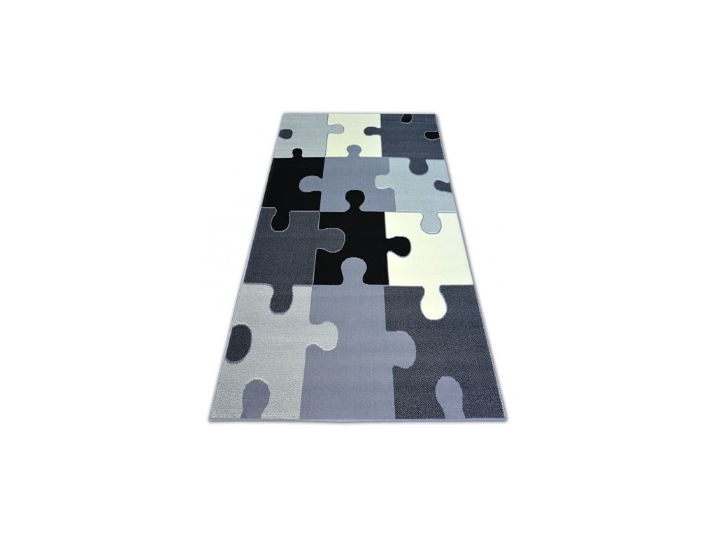 Kusový koberec BCF FLASH PUZZLE 3973 šedý
