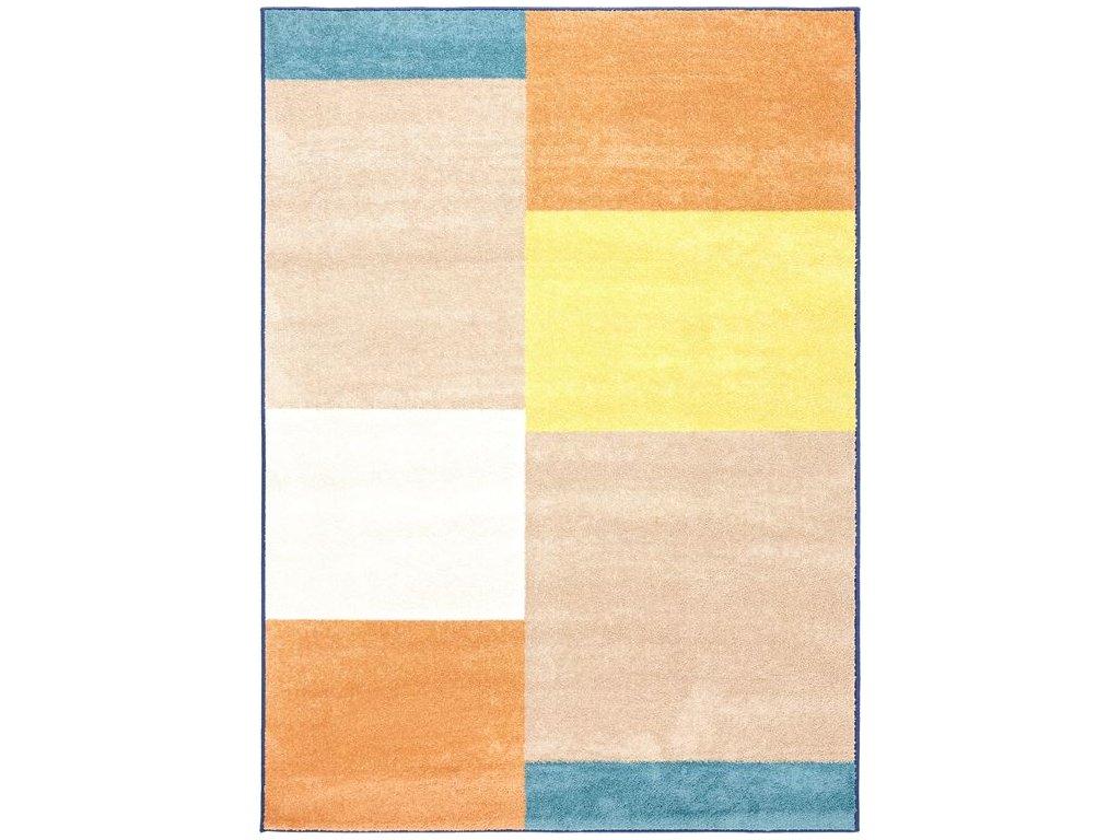 Dětský kusový koberec Agnella Eden Firka Len vícebarevný