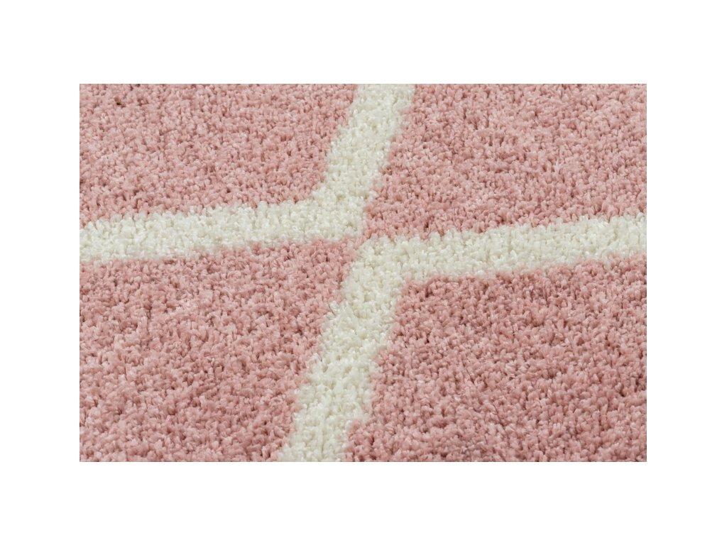 Kusový koberec BERBER TROIK A0010 růžový bílý