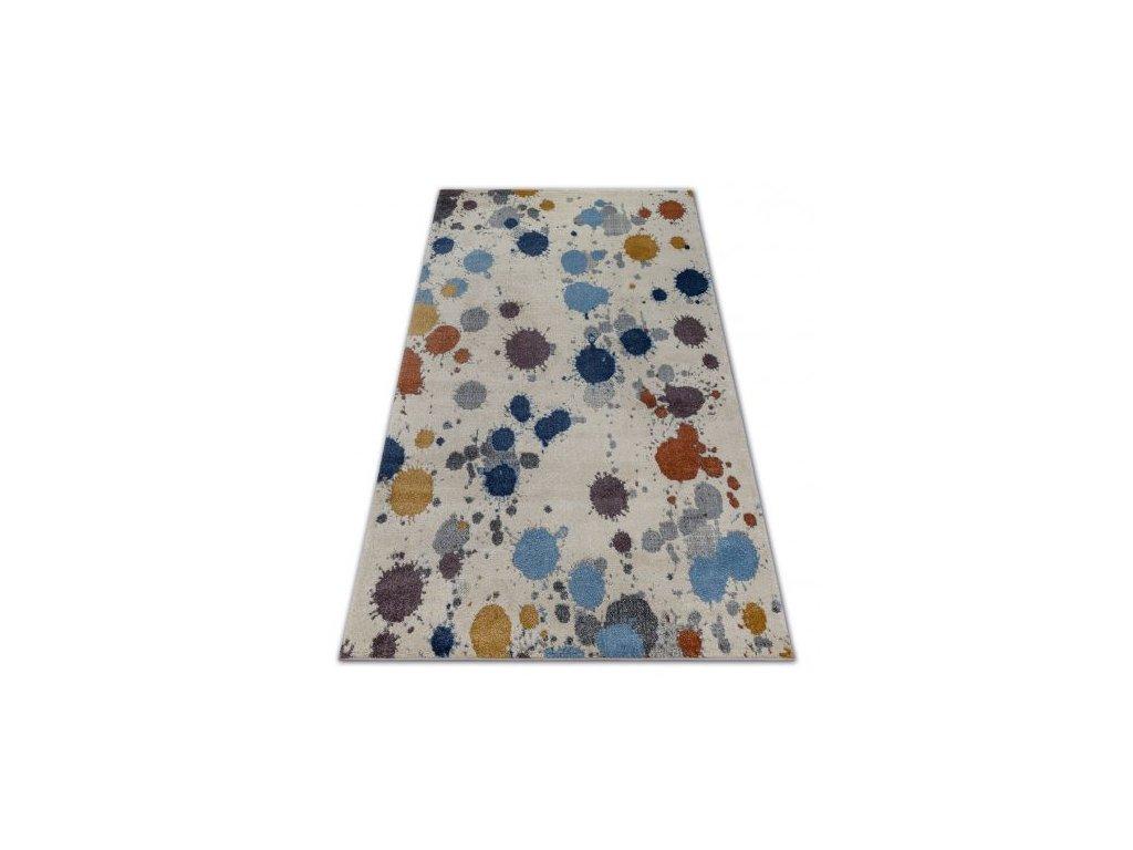 Kusový koberec SOFT 6152 Tečkovaný vícebarevný