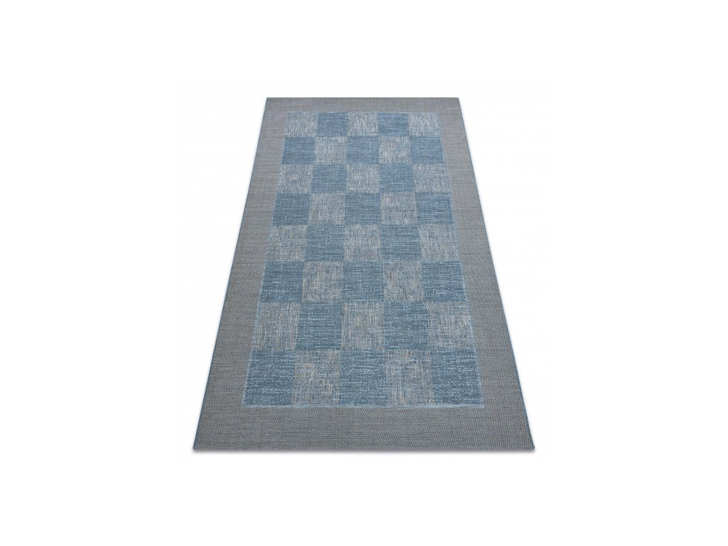 Kusový koberec Sisal FORT 36217835 modrý