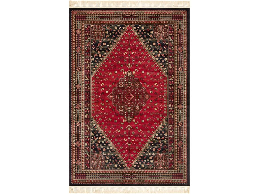 Klasický kusový koberec Ragotex Beluchi 61405 1636 červený / černý