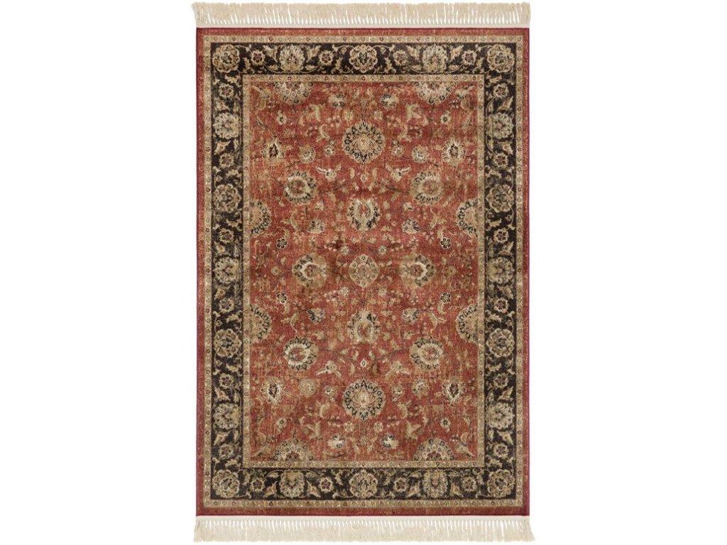 Klasický kusový koberec Ragotex Beluchi 88422 1232 červený / černý