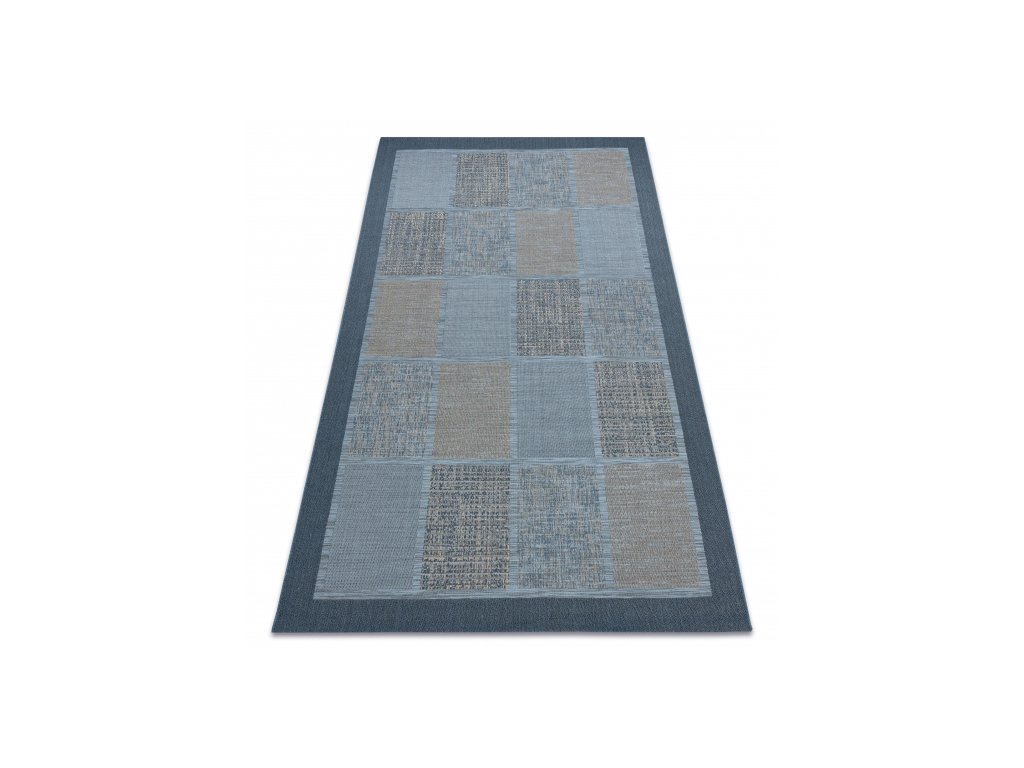 Kusový koberec Sisal FORT 36214035 modrý