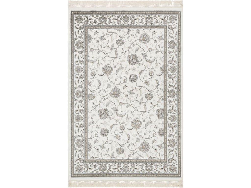 Klasický kusový koberec Ragotex Beluchi 88751 6969 Květy krémový / šedý