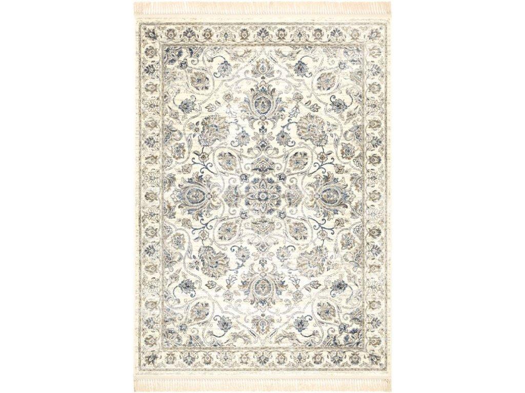 Klasický kusový koberec Ragotex Beluchi 88832 6989 Květy krémový
