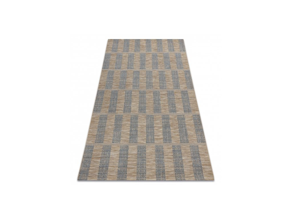 Kusový koberec Sisal FORT 36211382 modrý / béžový