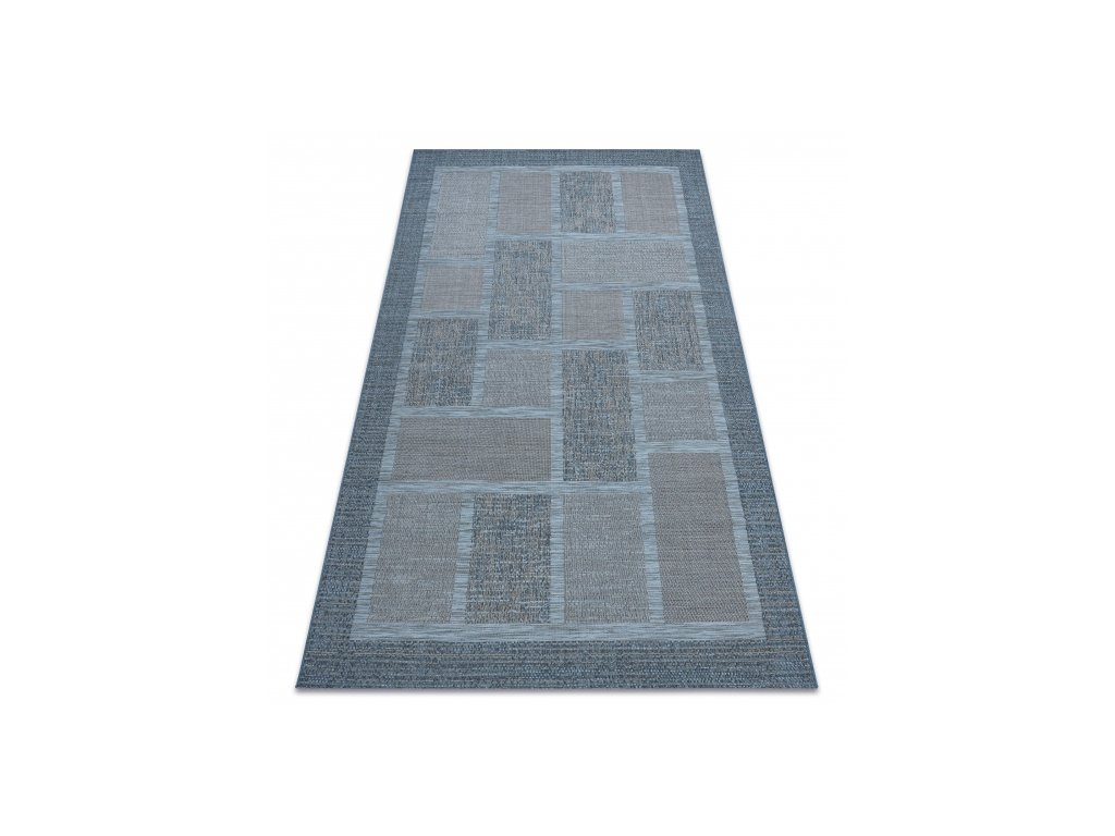 Kusový koberec Sisal FORT 36209935 modrý