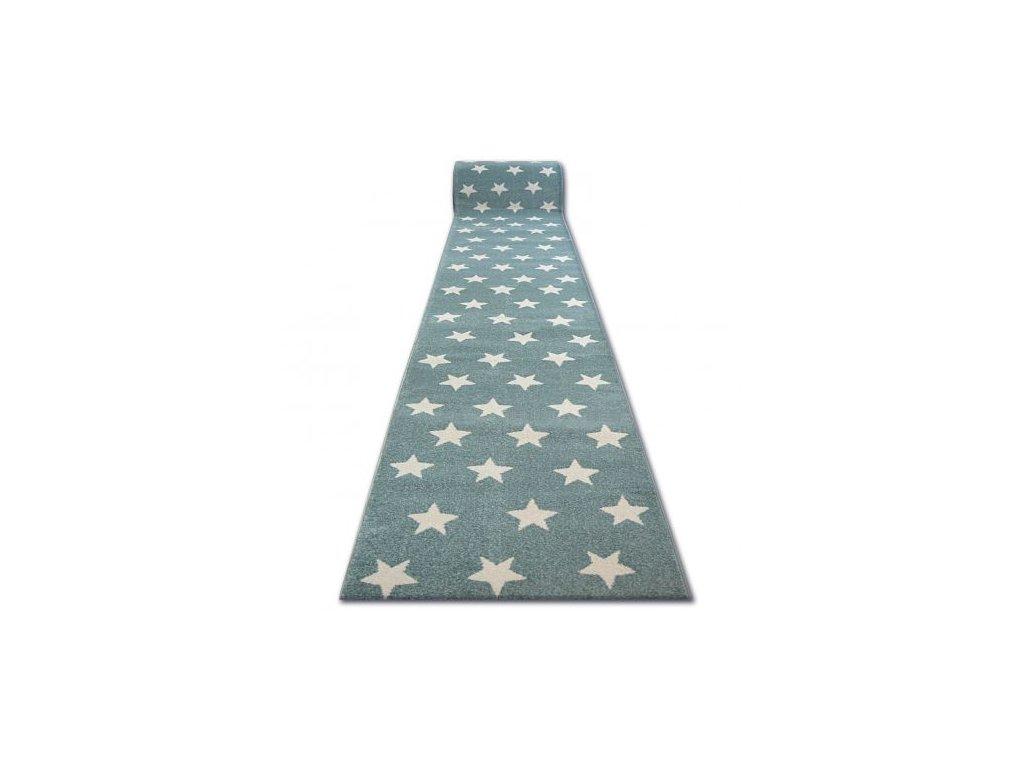 Běhoun SKETCH - FA68 Hvězdy tyrkysový krémový