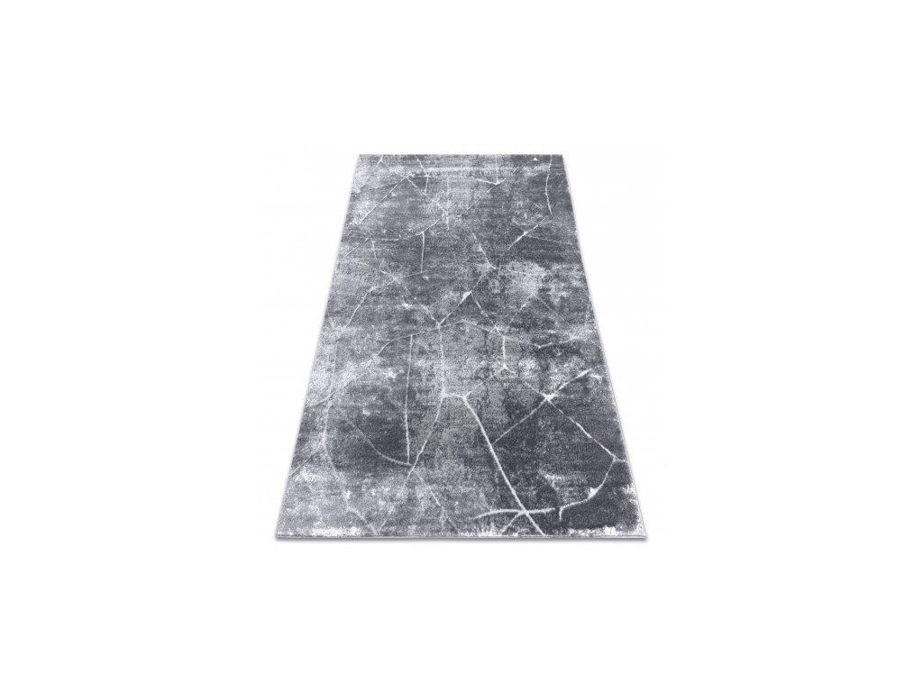Moderní kusový koberec MEFE 2783 Mramor tmavě šedý