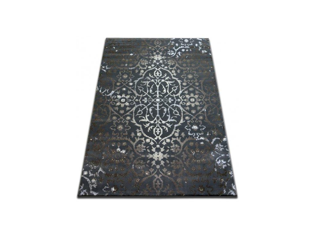 Kusový koberec Vogue 584 Tmavě Šedý
