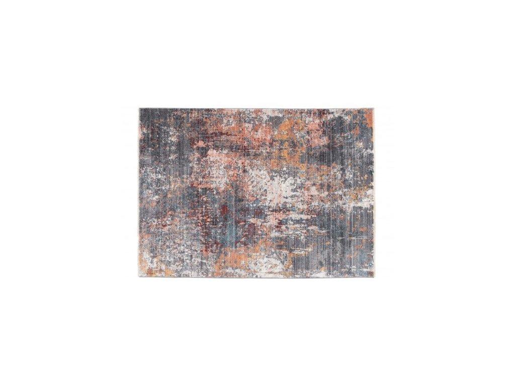 Kusový koberec abstraktní MYSTIC 3082B šedý / modrý