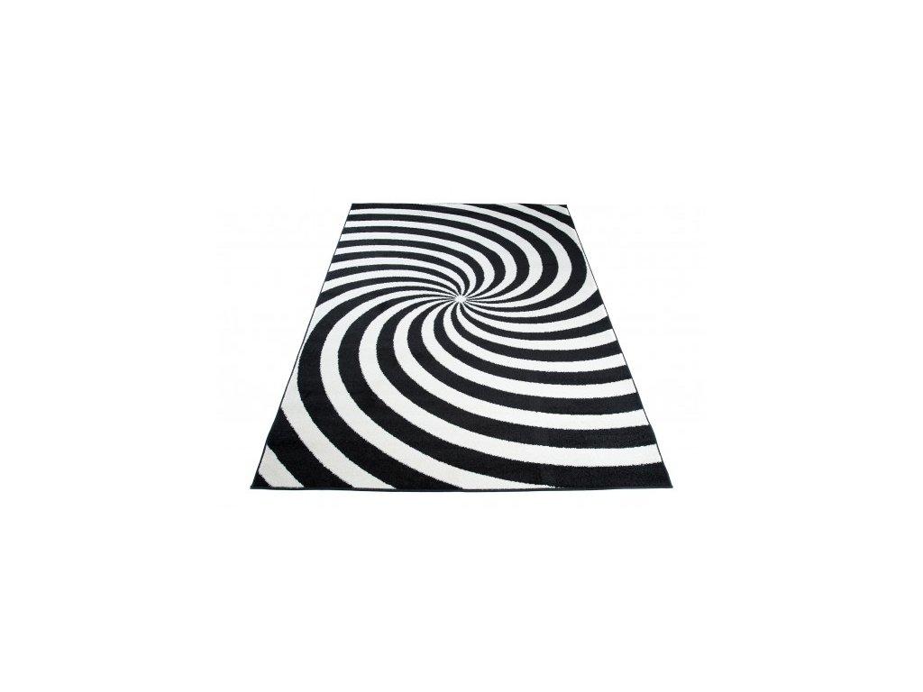Moderní kusový koberec HIPNOTIZE Z037A černý / bílý