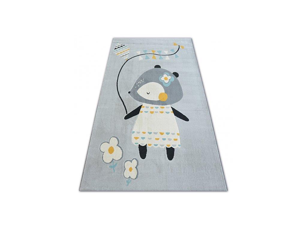 Dětský kusový koberec PASTEL 18403/052 - Myška šedý
