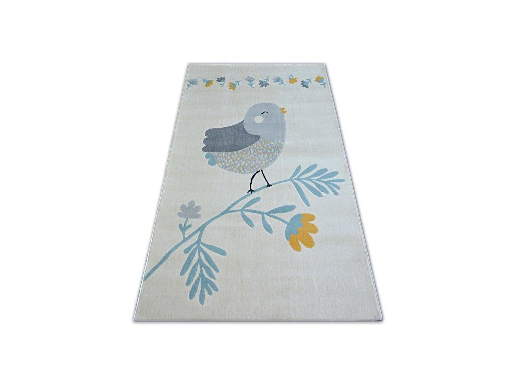 Koberec PASTEL 18404/062 - Ptáček krémový