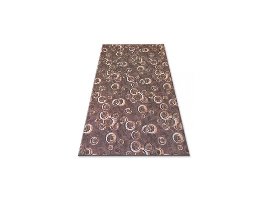 Kusový koberec Drops 043 tmavě hnědý