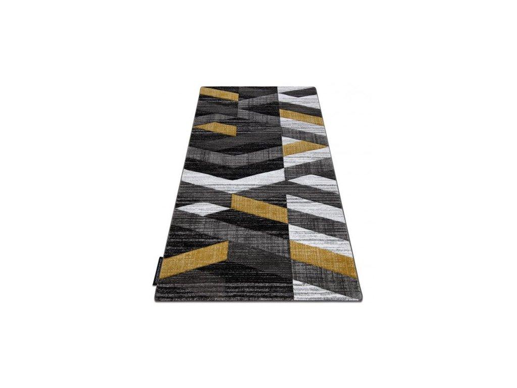 Kusový koberec ALTER Bax šedý / žlutý