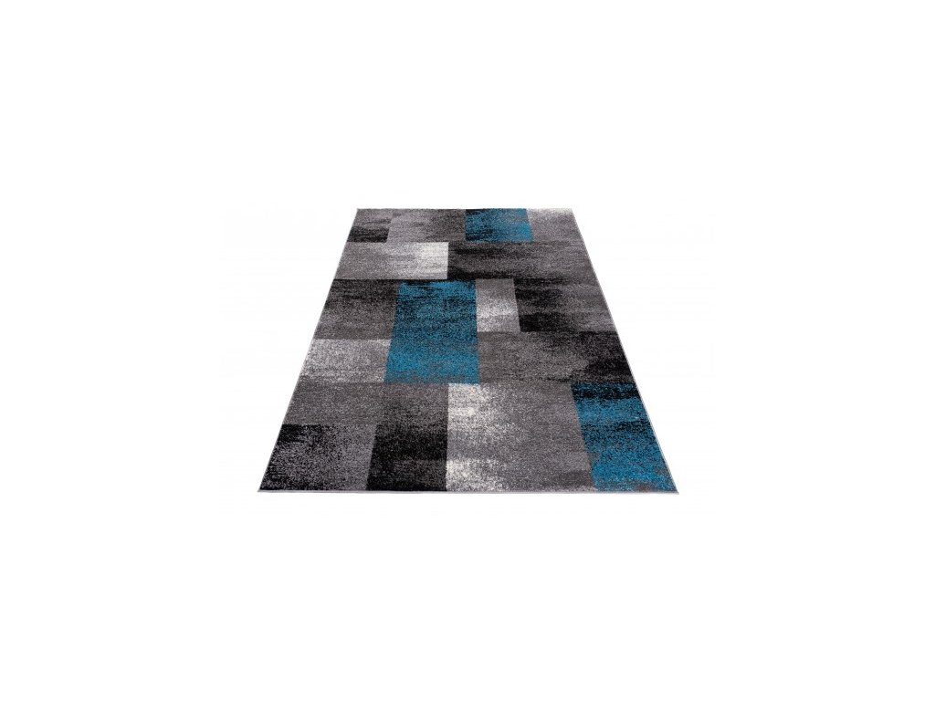 Kusový koberec JAWA J390C šedý / modrý