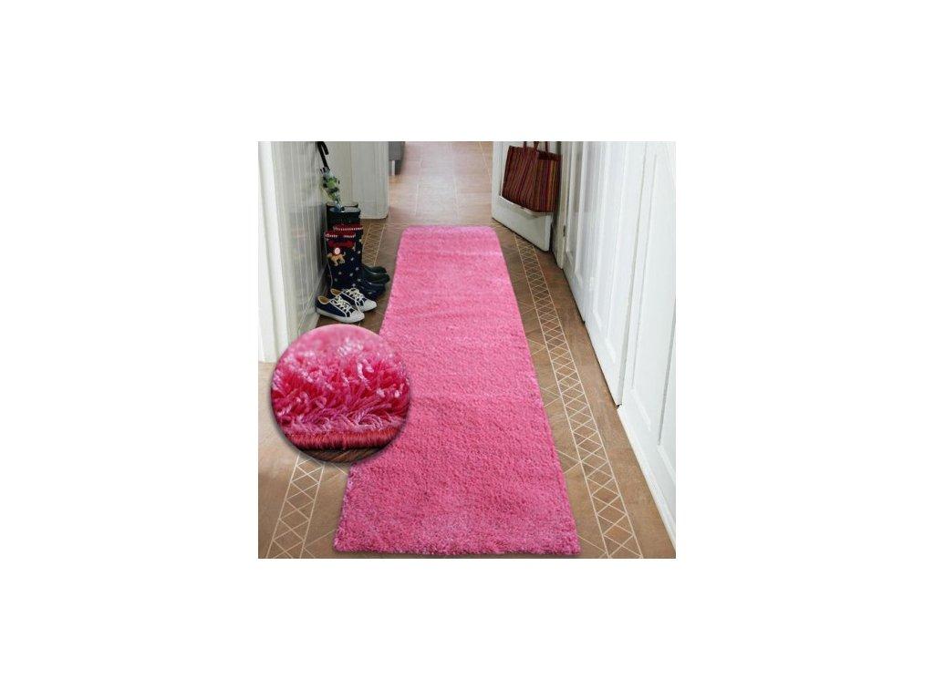 Běhoun SHAGGY 5cm růžový