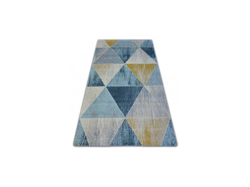 Kusový koberec NORDIC G4584 modrý / krémový