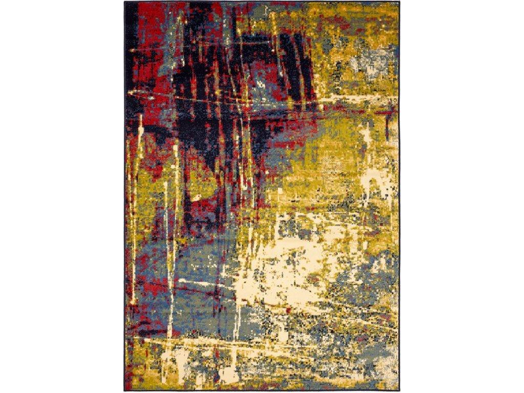 Moderní kusový koberec Agnella Deco Katano Limonka