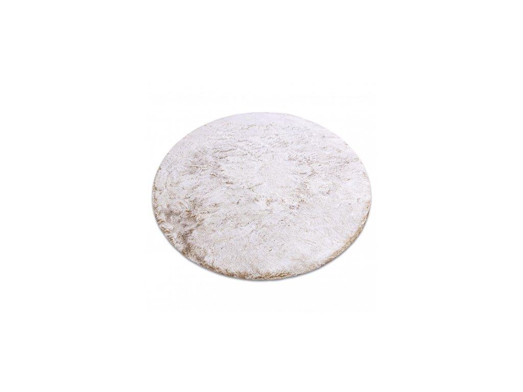 Kulatý koberec Shaggy LAPIN béžový / slonová kost