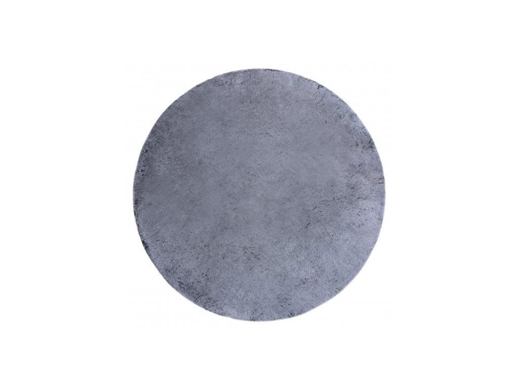 Kulatý koberec Shaggy LAPIN černý slonová kost1