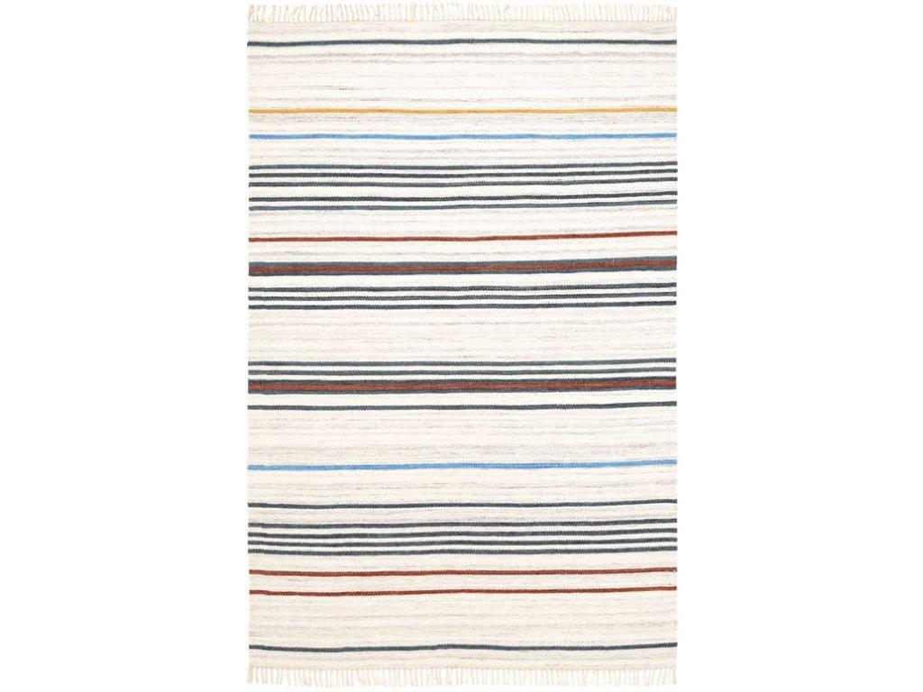 Kusový koberec vlněný Kilim NK 560 Proužky vícebarevný