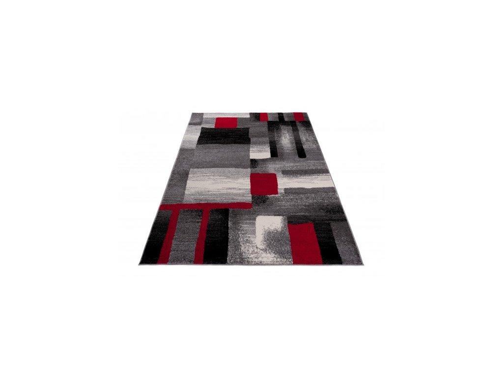 Kusový koberec JAWA J380A šedý / červený