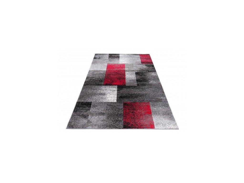 Kusový koberec JAWA J390A šedý / červený