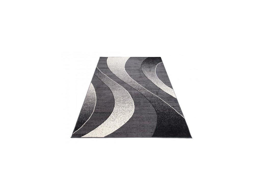 Moderní kusový koberec K857A CHEAP Tmavě šedý