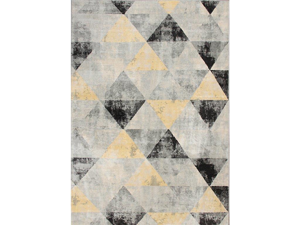 Kusový koberec SHOW/SOFT 4929 šedý / žlutý