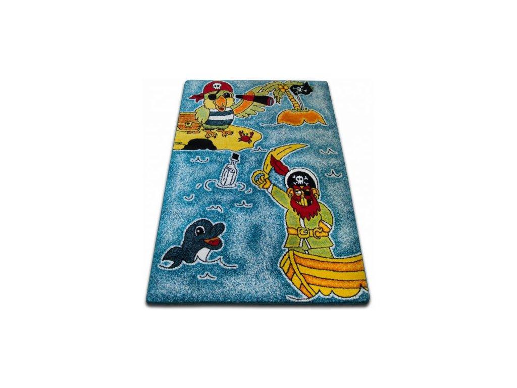 Dětský kusový koberec KIDS C416 Piráti modrý