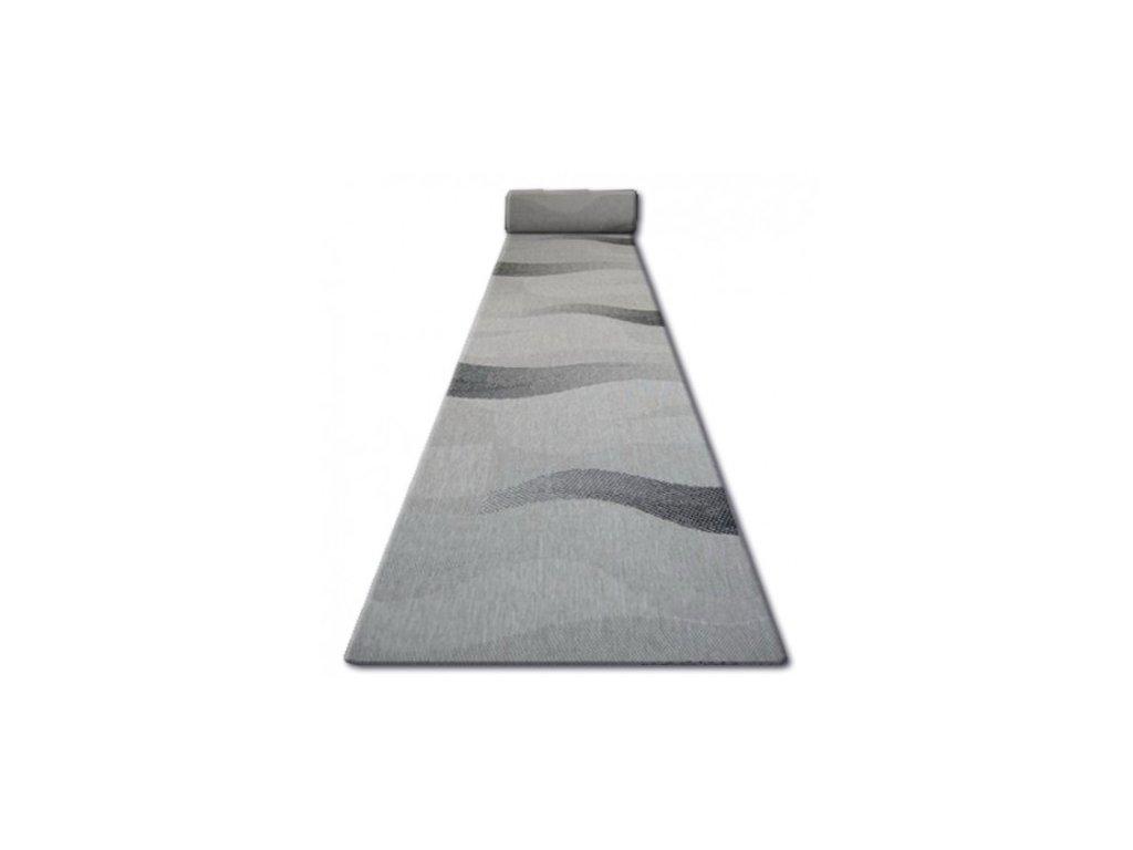 Běhoun Sisal Floorlux 20212 stříbrný / černý