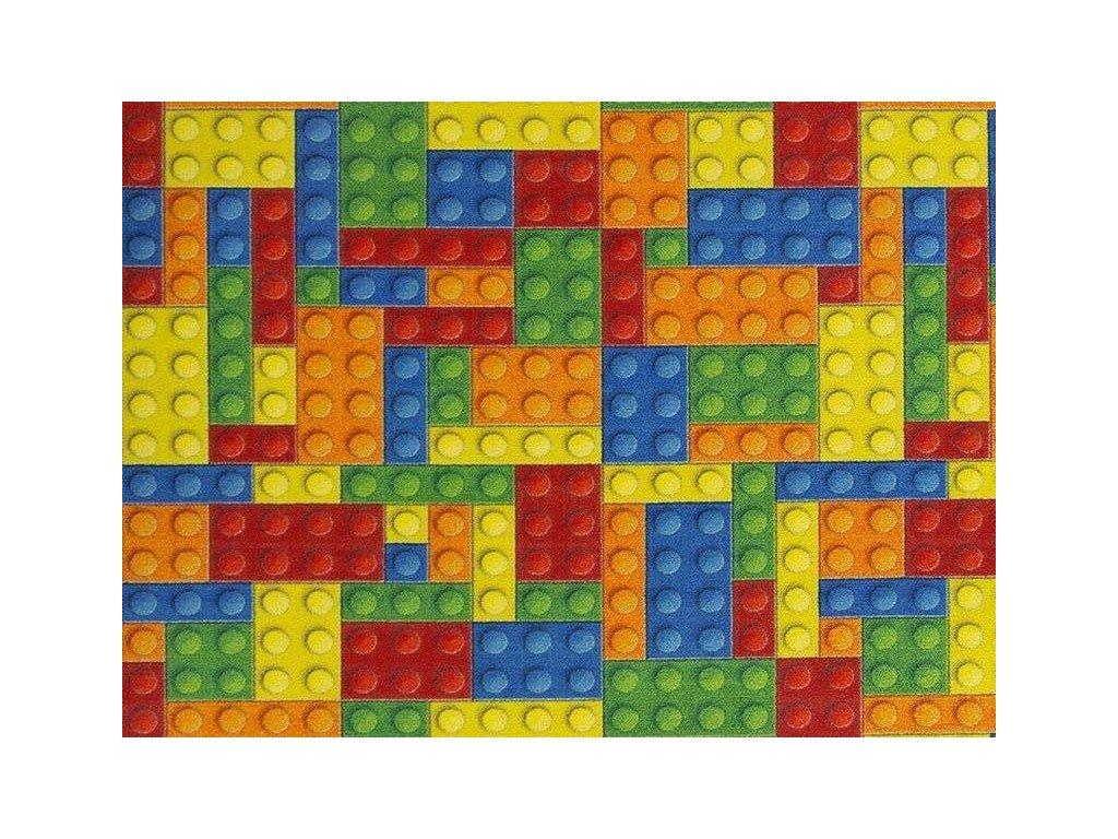 Dětský kusový koberec Kostky Lego