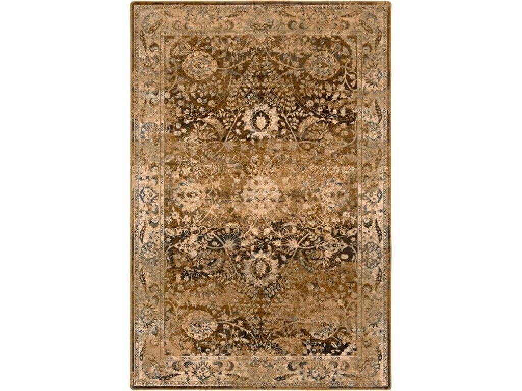 Kusový koberec vlněný Dywilan Dywilan Omega Super 2433 Mandi Medový