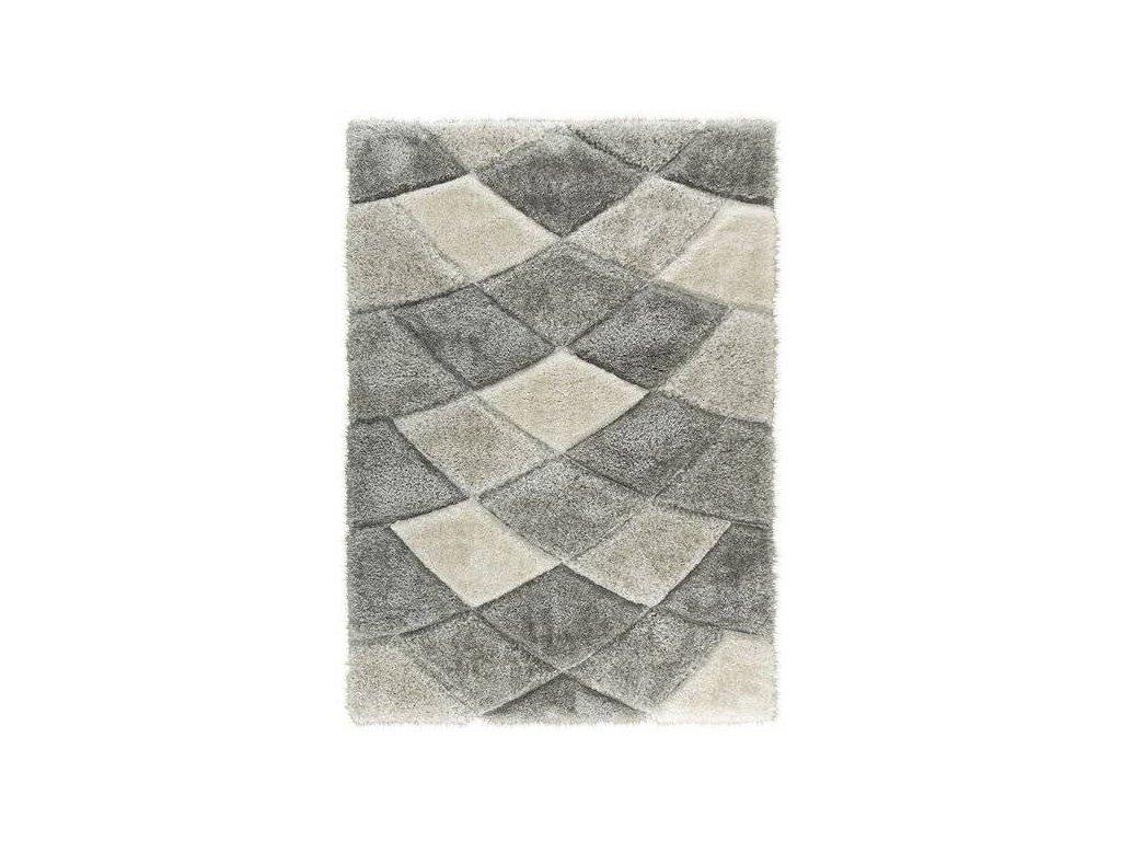 Kusový koberec Shaggy California P428B šedý / béžový