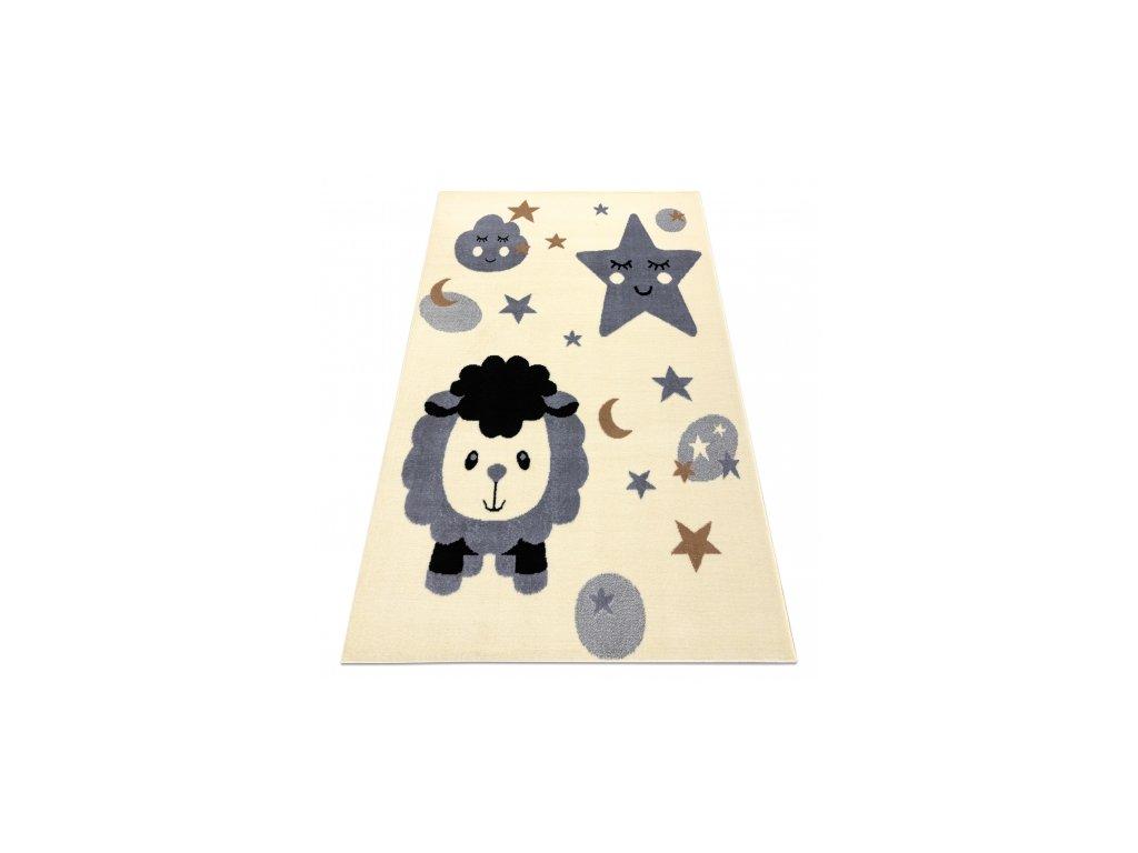 Dětský kusový koberec BCF FLASH 4000 Ovečka krémový / šedý